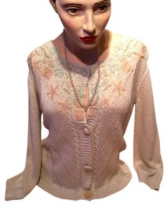 Dance in Paris Beads Lace Pearls Sweater Vintage Elegant Feminine Victorian Cardigan