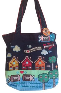 Loungefly Tootsie Roll Square Casual Back To School Tote in Blue