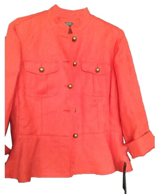 Item - Orange New with Gold Buttons Jacket Size 8 (M)