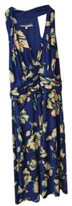 blue floral Maxi Dress by Evan Picone