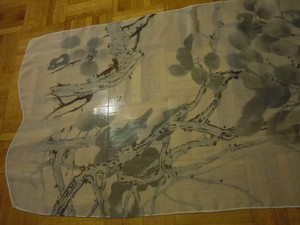 unknown chinese poem scarf