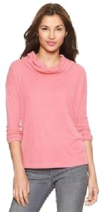 Gap Cowl Neck Waffle Knit T Shirt Coral Frost