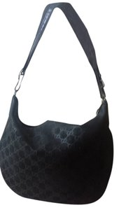Gucci Gg Suede Leather Vintage Monogram Hobo Bag