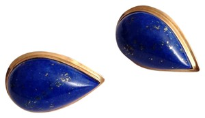 14K Gold Lapis Earrings. 14K Gold Lapis Earrings.