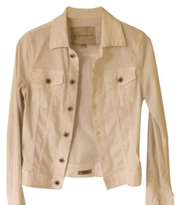 AG Adriano Goldschmied White Womens Jean Jacket