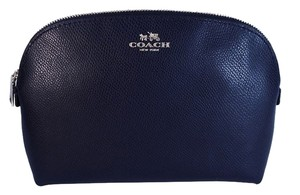 Coach Coach Crossgrain Leather Cosmetic Case Make Up Travel Bag NWT Midnight Blue