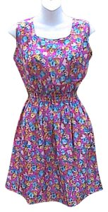 HXY short dress Fuschia Floral Brand New W/o Tag Summer Mini on Tradesy