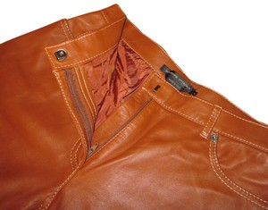 Adrienne Vittadini Leather Straight Pants Brown