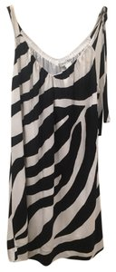 White House | Black Market Zebra Print Silk Summer Cocktail Dress