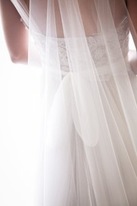 BHLDN Ivory Long Sky Mist Style: 30588669 Bridal Veil