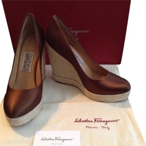 Salvatore Ferragamo Bronze Wedges