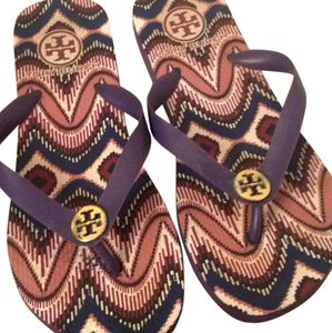 Tory Burch Purple with print design Sandals