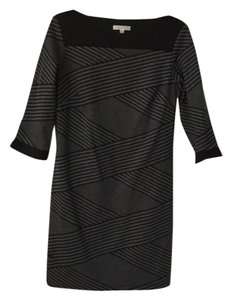 Sandra Darren short dress Black and gray on Tradesy