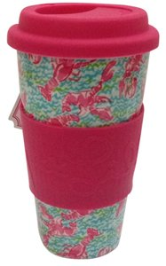 Lilly Pulitzer Travel Mug In Lobstah Roll Dishwasher / Microwave Safe