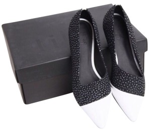 Tibi Black White Multi Flats