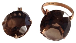 14K Smoky Quartz Ring & Pendant. 14K Smoky Quartz Ring & Pendant.