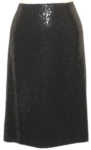 Ellen Tracy Sequin Evening Skirt Black