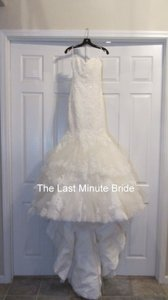 Maggie Sottero Ivory Lace Adalee A3644 Sexy Wedding Dress Size 4 (S)