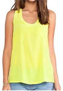 Joie Silk Racerback Top Yellow
