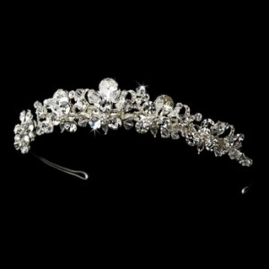Elegance by Carbonneau Silver/Silver Sparkling Tiara and Matching Jewelry Set
