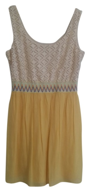 Lily Rose short dress Cream and Yellow on Tradesy