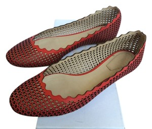 Chloé Perforated Leather Ballerina Chloe Flats