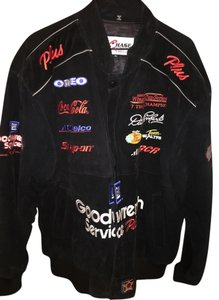 Chase Authentics Mens Nascar Leather Suede Leather Jacket