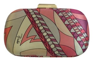 Emilio Pucci Fuilio Satin Box Multi Clutch