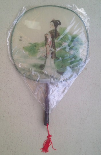 Multicolor Chinese Hand Fan Reception Decoration