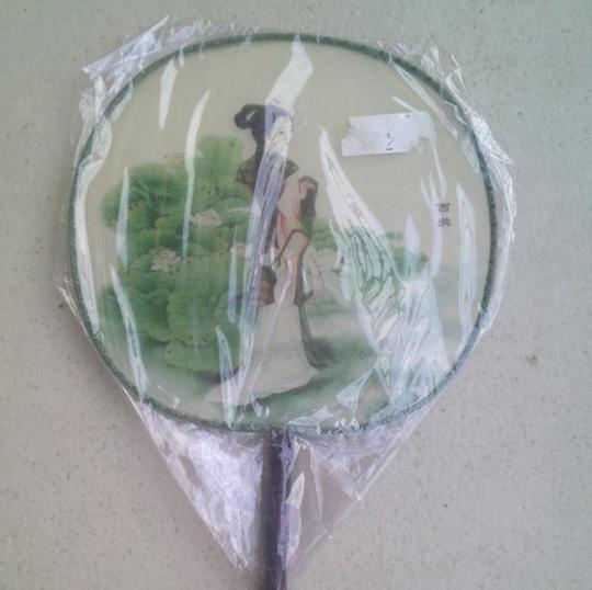 Multicolor Chinese Hand Fan Reception Decorations