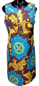 Taylor short dress Turquoise Above Knee Yellow on Tradesy