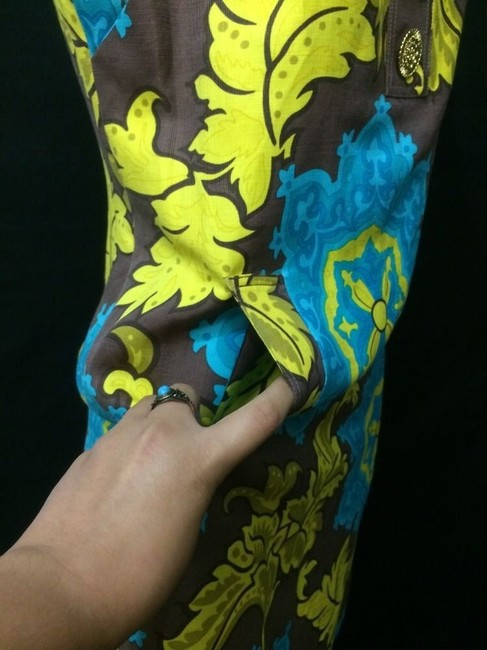 Taylor short dress Turquoise Above Knee Yellow Shift Front Pocket on Tradesy