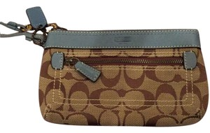 Coach Wristlet in Brown, Blue