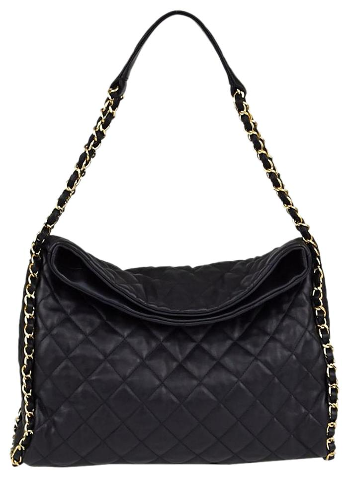 Chanel Hobo Jumbo Quilted Ultimate Soft Chain Around Tote Black Catfish  Leather Shoulder Bag 2a9b0af72baae
