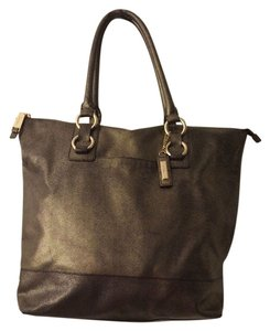 Cole Haan Leather Gold Work Tote in Dark Gold