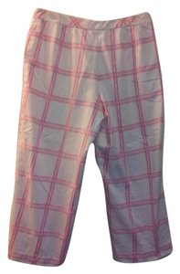 Talbots Capris pink and white