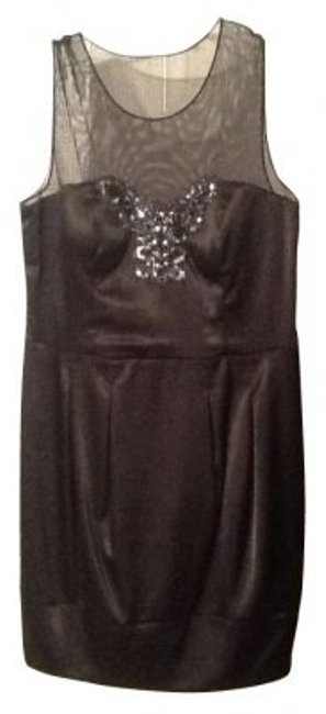 Preload https://item1.tradesy.com/images/bisou-bisou-black-shine-net-chest-sparkle-mini-cocktail-dress-size-10-m-5490-0-0.jpg?width=400&height=650