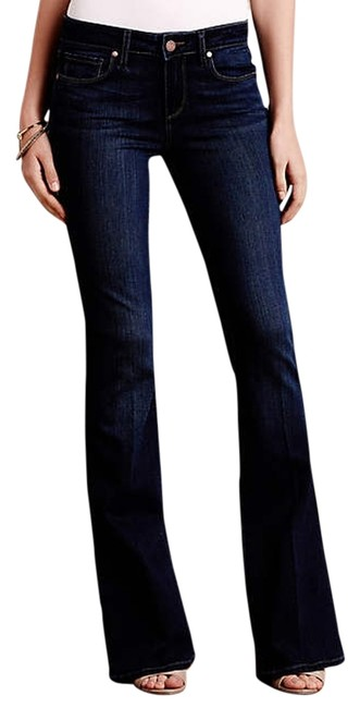 Paige Stretchy Boot Cut Jeans-Medium Wash