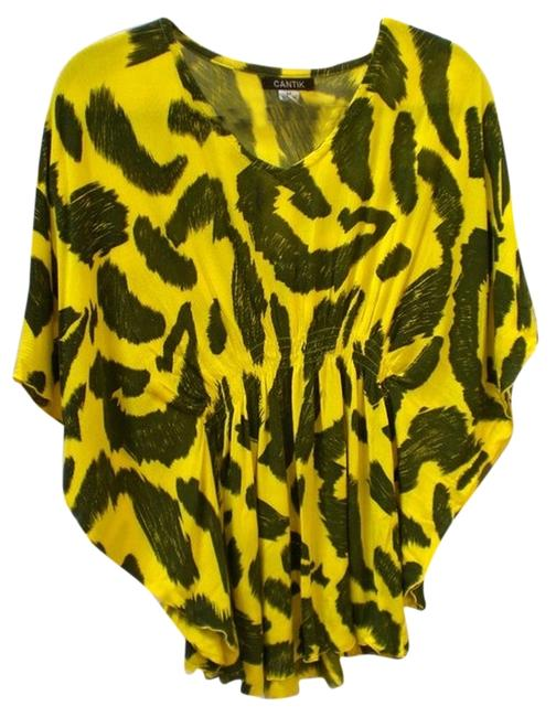 Cantik Top yellow, black