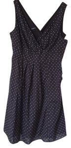 Lands' End short dress Navy polka dot on Tradesy