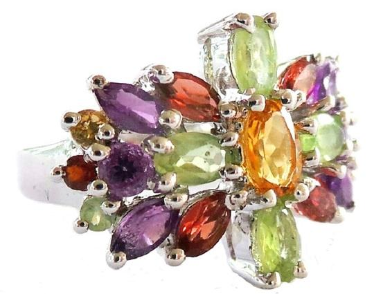 Other Amethyst, Citrine, Peridot, Garnet 925 Sterling Silver Ring 6