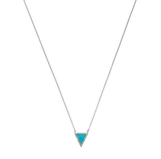 Michael Kors Michael Kors Pave Triangle Necklace Turquoise Arrow with dust pouch
