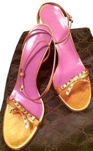 Gucci Bow Copper Gold Purple Purple/Copper Sandals