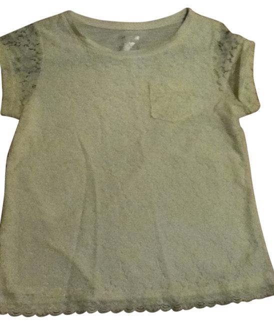 Preload https://item3.tradesy.com/images/target-cream-white-lace-trim-lace-tee-shirt-size-2-xs-549092-0-0.jpg?width=400&height=650