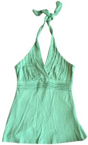 bebe Halter Party Sexy Green Halter Top