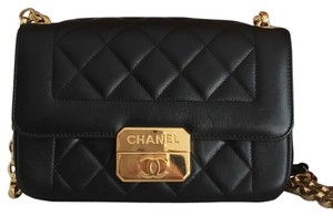Chanel Gold Chain Gold Lambskin Quilted Night Out Chic With Me Rare Shoulder Bag