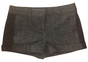 Express Wool Lace Mini/Short Shorts black and white tweed