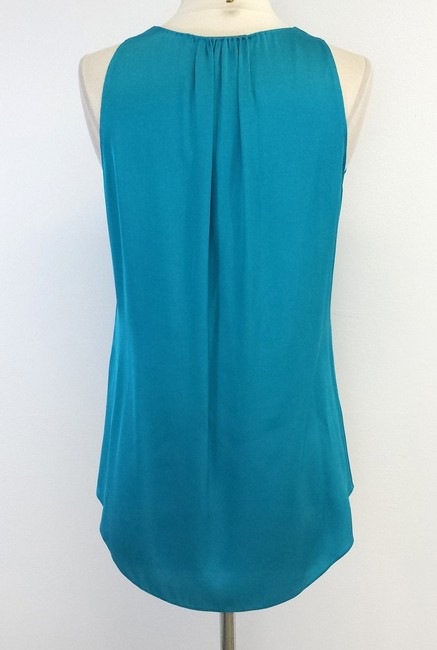 Elie Tahari Teal Silk Sleeveless Top