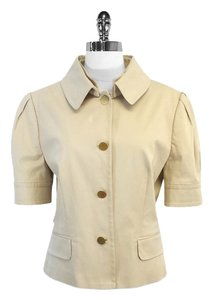 Dolce&Gabbana Khaki Cotton Blend Short Sleeve Jacket