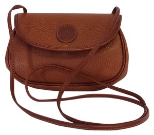 Mark Cross Cognac Brown Leather Small Cross Body Bag